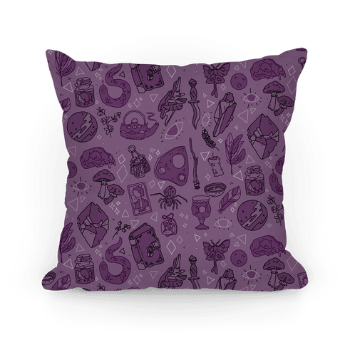 Witchy Pattern Pillow