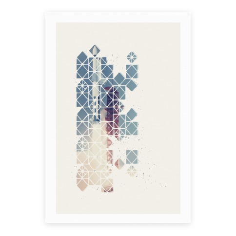 Hexagon Space Ship Poster