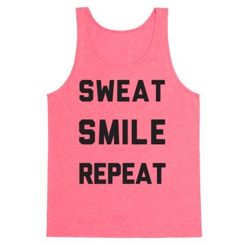 Sweat Smile Repeat Tank Top