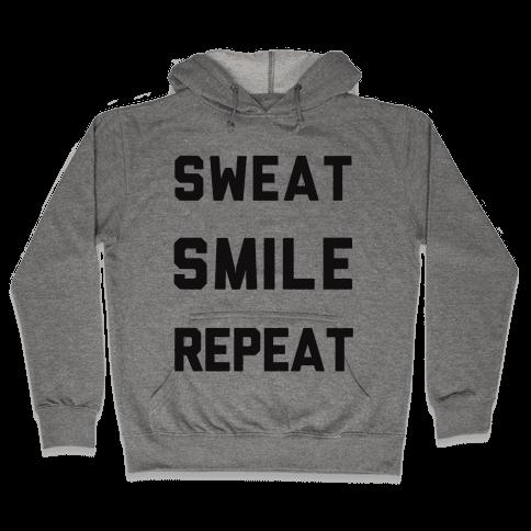 Sweat Smile Repeat Hooded Sweatshirt