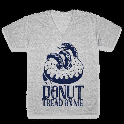 Donut Tread on Me V-Neck Tee Shirt
