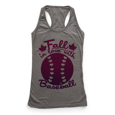Fall In Love With Baseball Racerback Tank Top