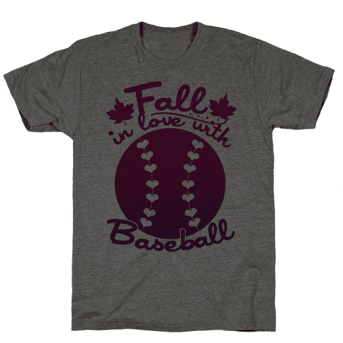 Fall In Love With Baseball Mens T-Shirt