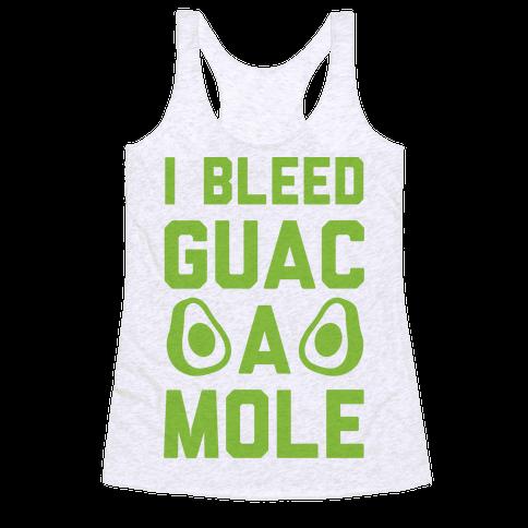 I Bleed Guacamole Racerback Tank Top