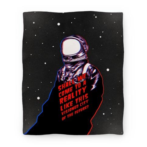 Metropolis Quote Blanket Blanket