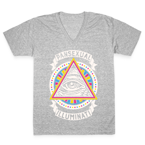 Pansexual Illuminati V-Neck Tee Shirt