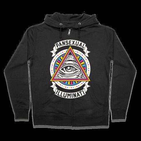 Pansexual Illuminati Zip Hoodie