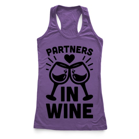 Partners In Wine Racerback Tank Top