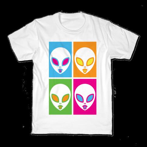 Pop Art Aliens Kids T-Shirt