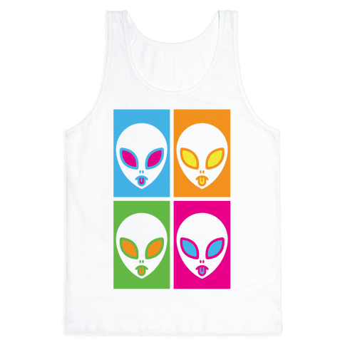 Pop Art Aliens Tank Top
