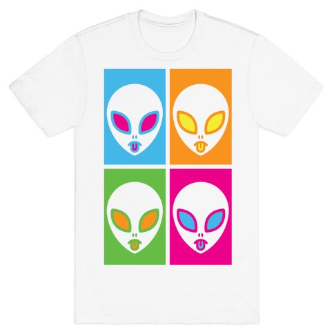 Pop Art Aliens Mens T-Shirt