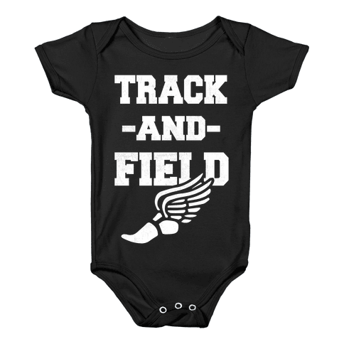 Track And Field Baby Onesy