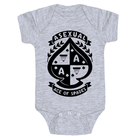 Asexual Crest Baby Onesy