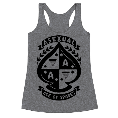 Asexual Crest Racerback Tank Top