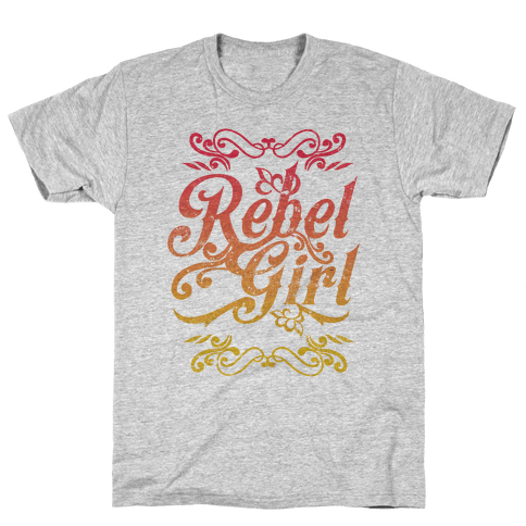 Rebel Girl Mens T-Shirt