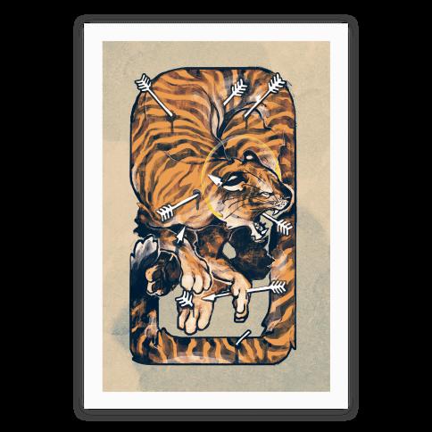 Saint Sebastian Tiger Poster Poster
