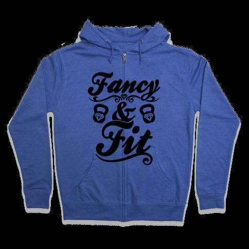 Fancy And Fit Zip Hoodie