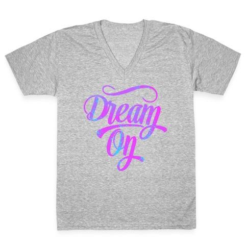Dream On V-Neck Tee Shirt