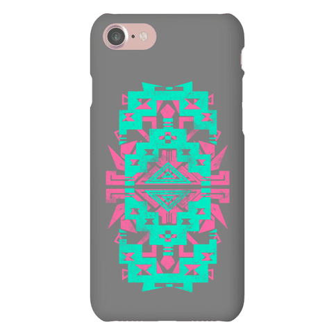 Aztec Pattern Print Mint Phone Case