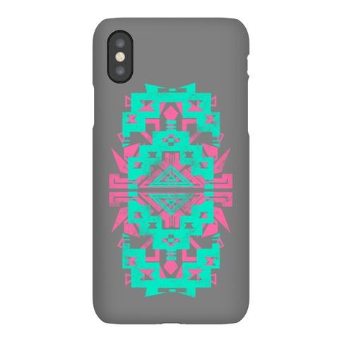 Aztec Pattern Print Mint Phone Case