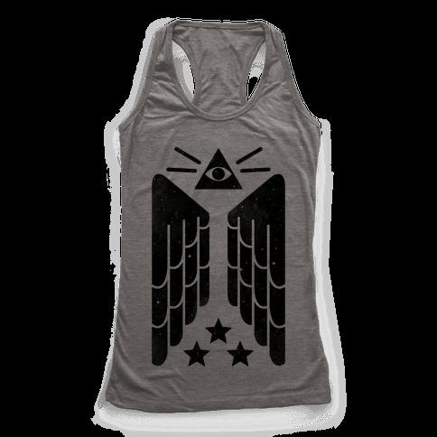 Illuminati Wings Racerback Tank Top