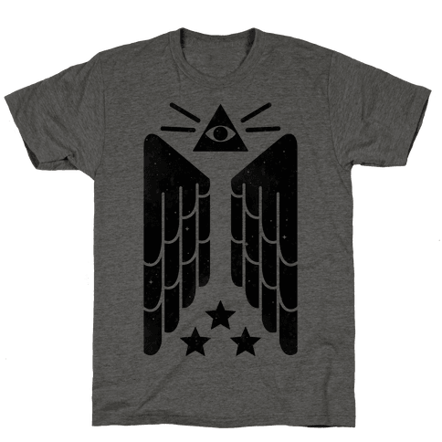 Illuminati Wings Mens T-Shirt