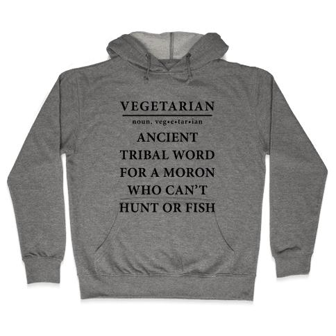 Vegetarian Definition Hooded Sweatshirt