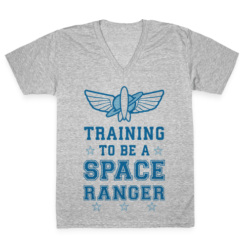 Training To be A Space Ranger V-Neck Tee Shirt