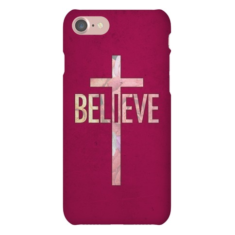 Believe (Floral) Phone Case
