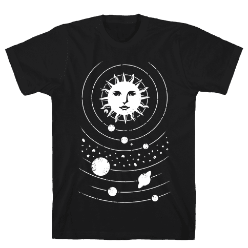 Solar System Orbit Mens T-Shirt