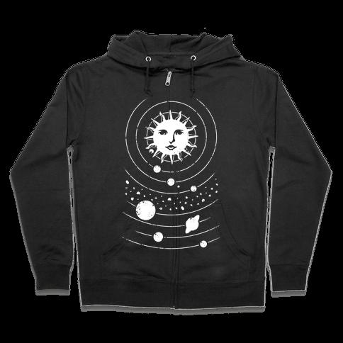 Solar System Orbit Zip Hoodie