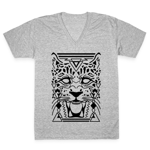 Egyptian Leopard V-Neck Tee Shirt
