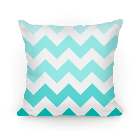 Chevron Pillow (Diamond Blue)