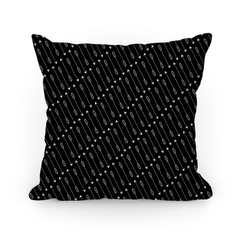 Black Diagonal Arrow Pattern Pillow