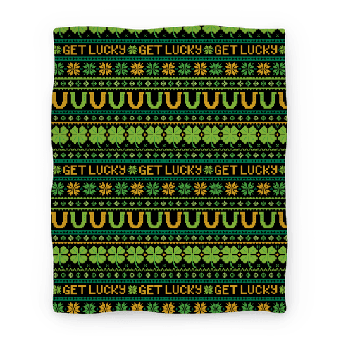 St. Patrick's Day Ugly Sweater Pattern Blanket