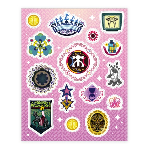 Madoka Magica Witches Kiss Sticker/Decal Sheet