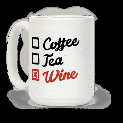 Coffee, Tea, And Wine Checklist