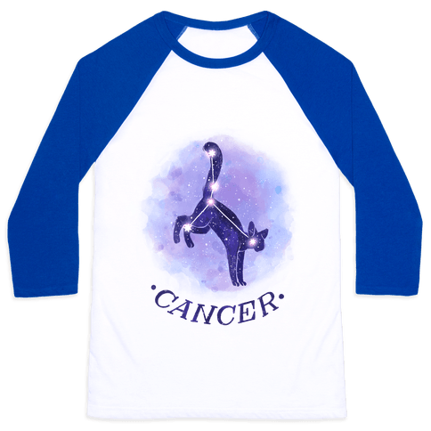 Cat Zodiac: Cancer Baseball Tee