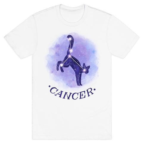 Cat Zodiac: Cancer Mens T-Shirt