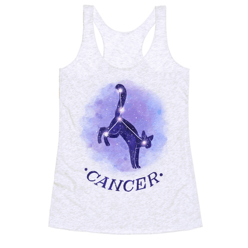 Cat Zodiac: Cancer Racerback Tank Top