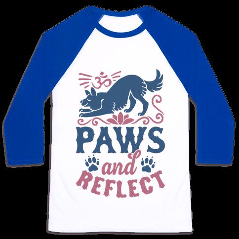 Paws And Reflect (Dog) Baseball Tee