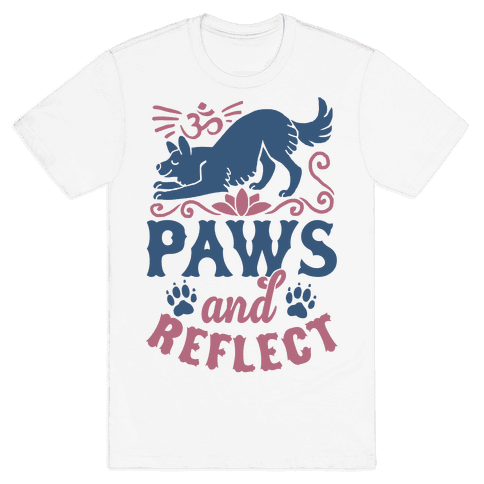 Paws And Reflect (Dog) Mens T-Shirt