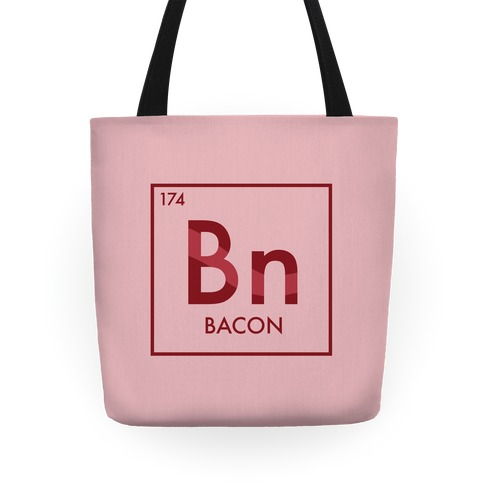 Bacon Periodic Element Tote