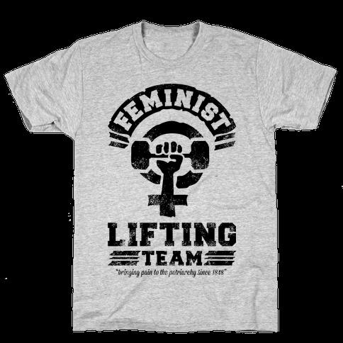 Feminist Lifting Team Mens T-Shirt
