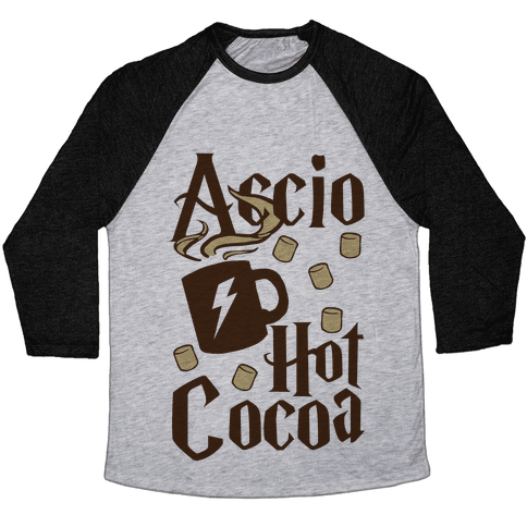 Accio Hot Cocoa Baseball Tee