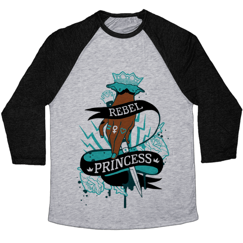 Rebel Princess Baseball Tee