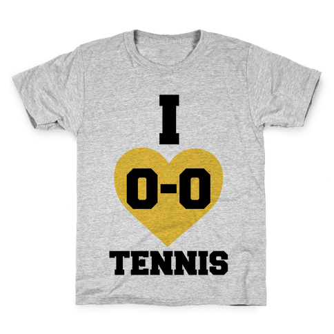 I 0-0 Tennis Kids T-Shirt