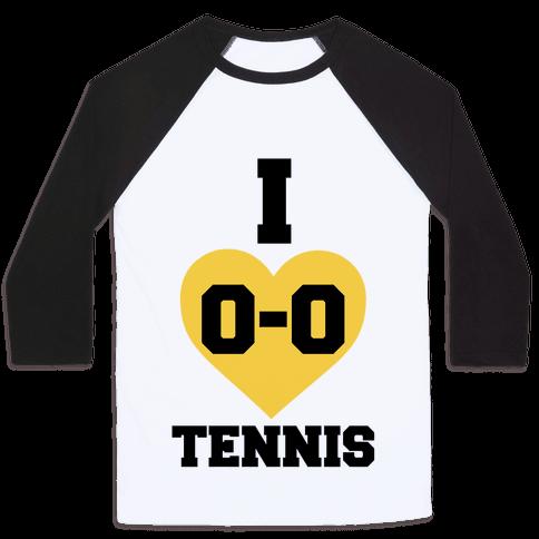 I 0-0 Tennis Baseball Tee