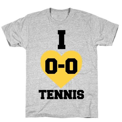 I 0-0 Tennis T-Shirt