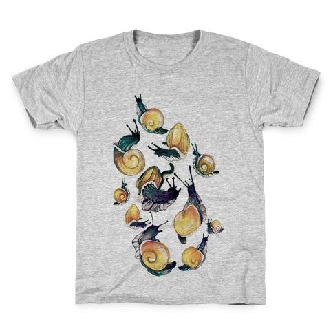 Golden Snail Shells Kids T-Shirt